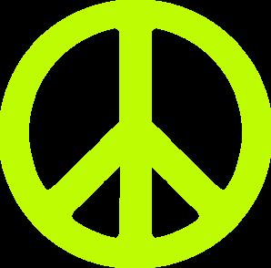298x294 Neon Green Peace Sign Clip Art Clipart Panda