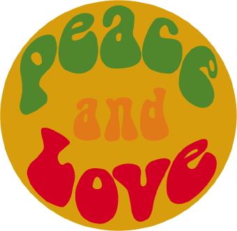 340x331 Peace And Love Button Clip Art