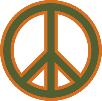 340x337 Peace And Love Sign Clip Art
