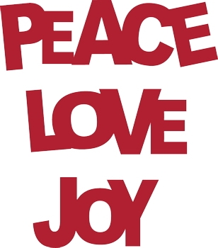 308x350 Christmas Peace Love Clip Art Free Geographics Clipart
