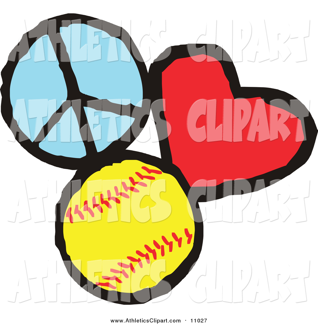 1024x1044 Clip Art Of A Peace Love Softball Sports Design By Johnny Sajem