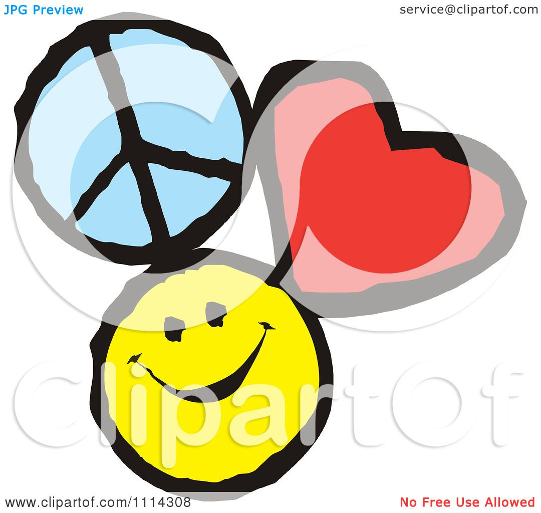 1080x1024 Clipart Peace Love And Happiness Icons