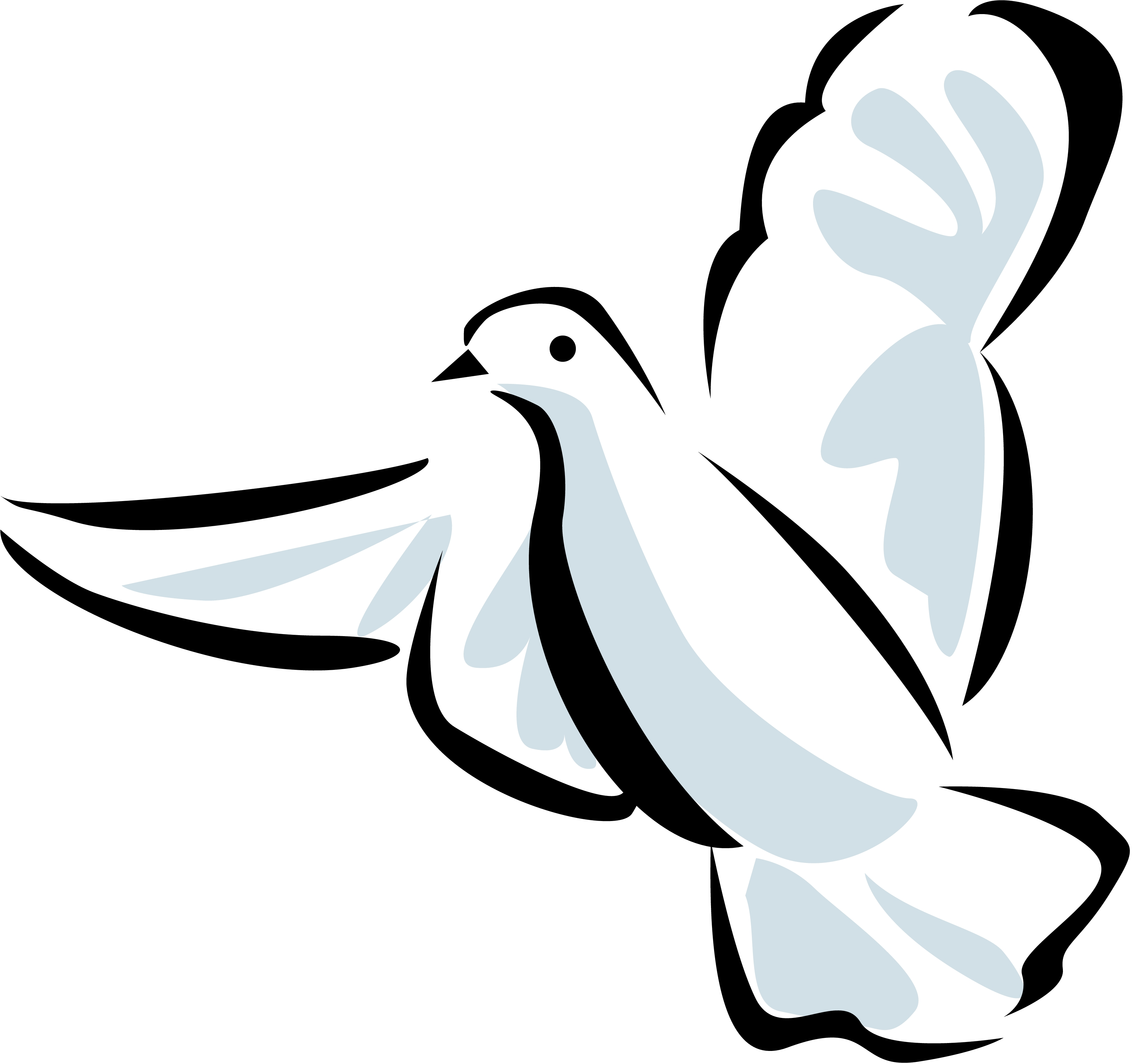 3300x3096 Holy Spirit Dove Clipart Free Images 2