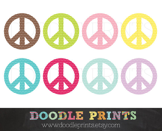 570x460 Peace Sign Clipart