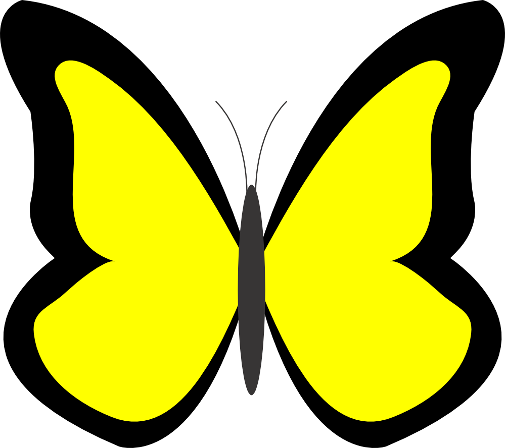 999x888 Clipart Of A Yellow Butterfly Amp Clip Art Of A Yellow Butterfly