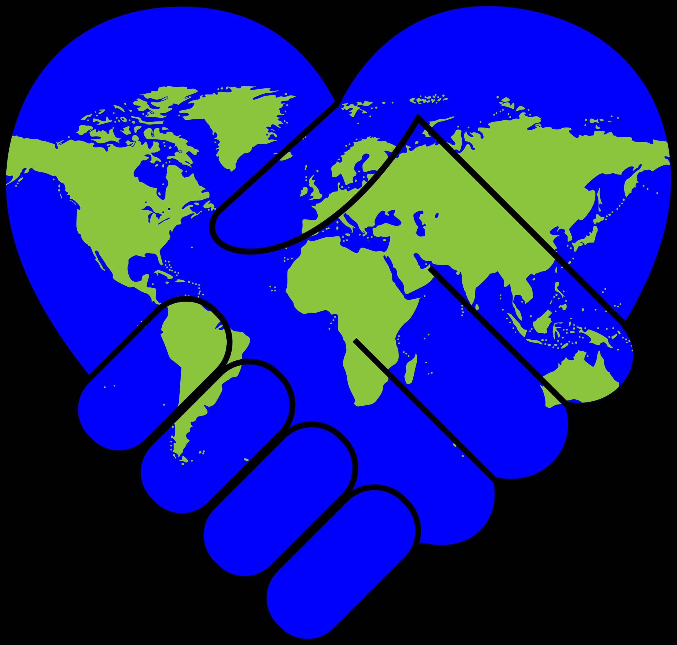 2336x2226 Heart World Clipart