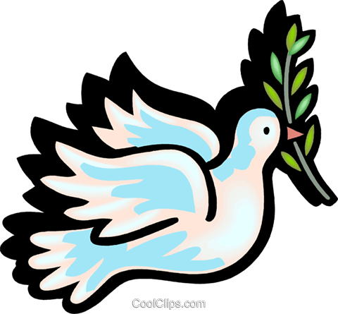 480x445 Dove Of Peace Royalty Free Vector Clip Art Illustration Vc102217
