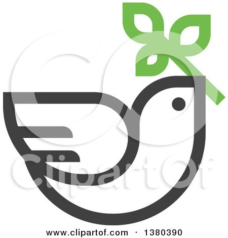 450x470 Clipart Of White Peace Doves Flying With Leaves And Branches,