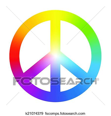 450x470 Marvelous Peace Sign Clipart Psychedelic Pencil And In Color