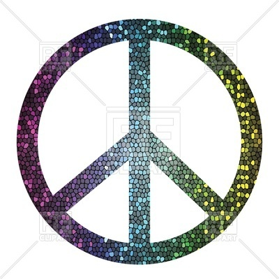 400x400 Peace Symbol In Dark Colors Royalty Free Vector Clip Art Image