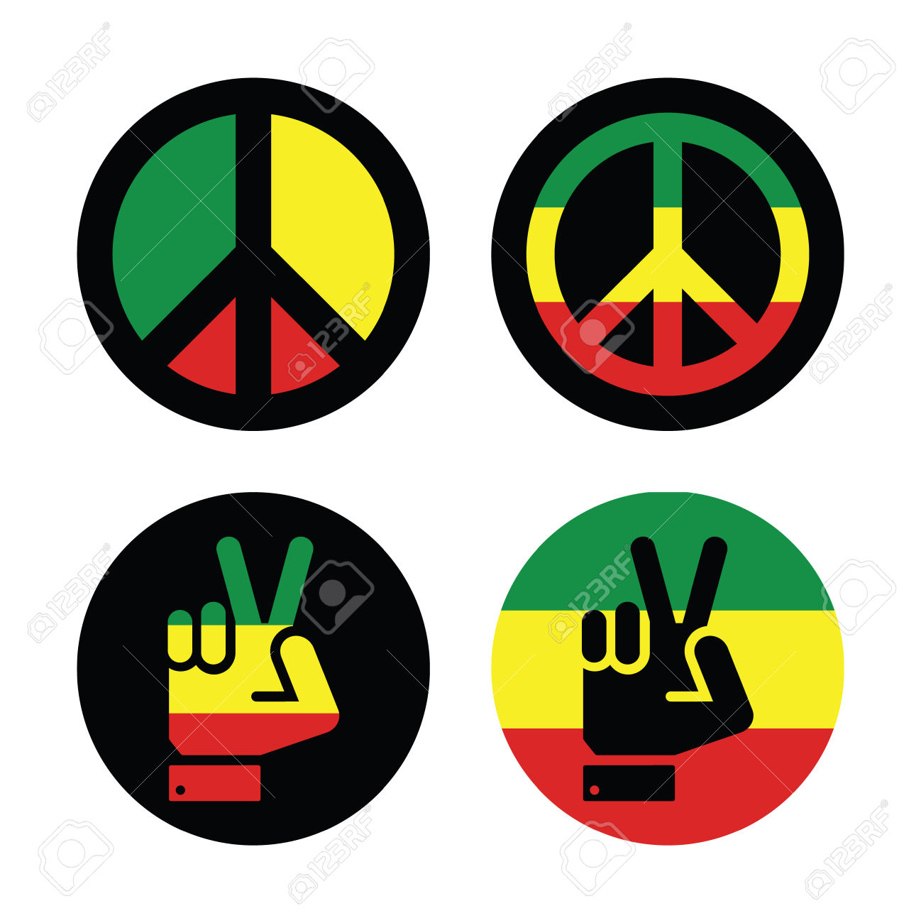 1298x1300 Reggae Clipart Peace Sign