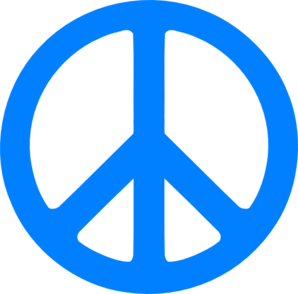 298x294 Blue Peace Sign Clip Art