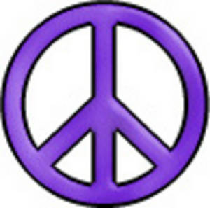 300x297 Free Retro Clip Art Illustration Of A Day Glo Peace Sign