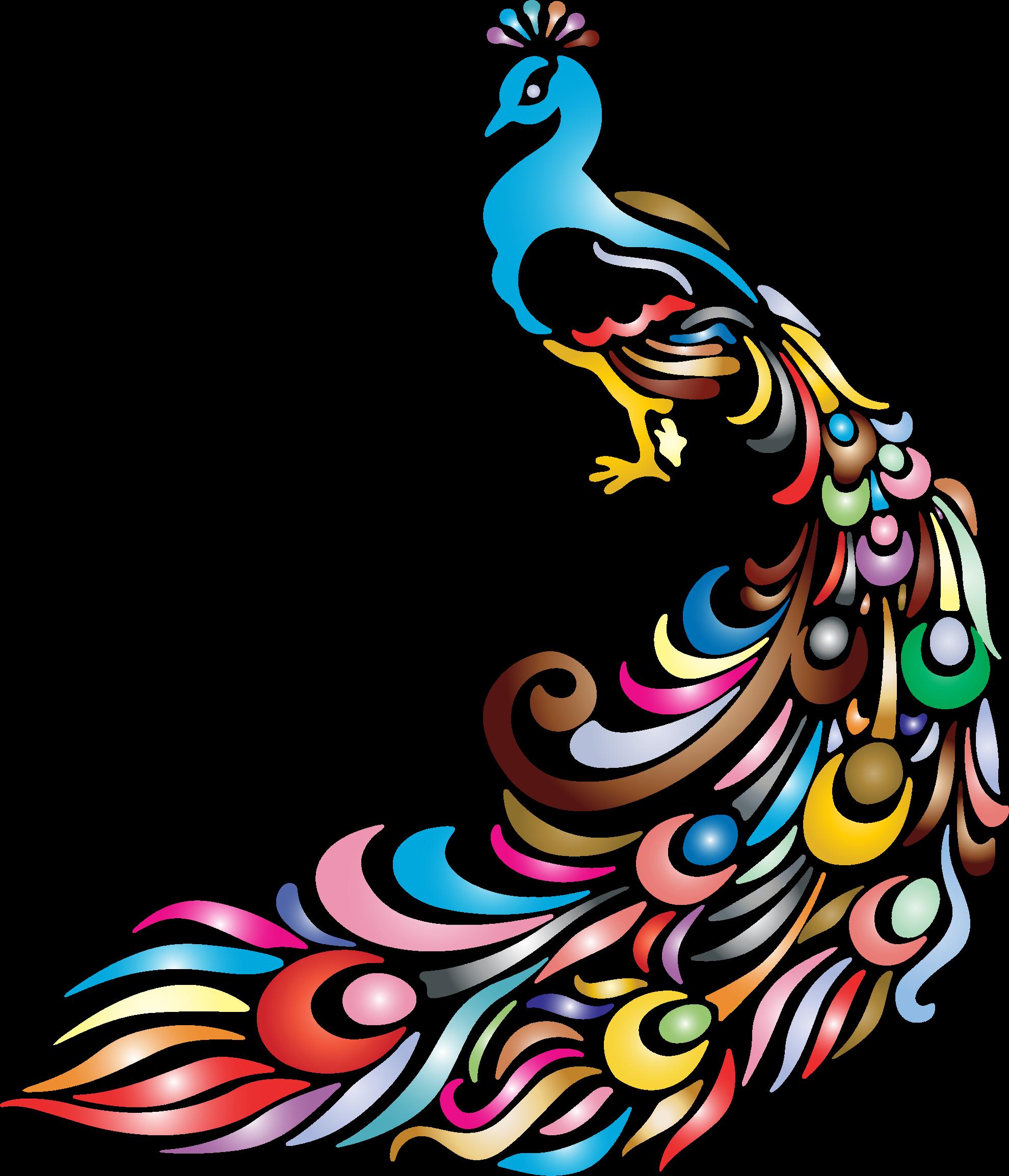 1980x2308 Cartoon Peacock Vector Clip Art Illustration With Simple