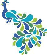 153x179 Peacock Clip Art And Illustration. 2,857 Peacock Clipart Vector