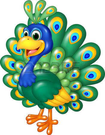 351x450 Peacock Clipart Cartoon