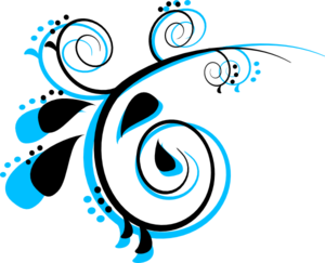 300x243 Scroll Black And Peacock Clip Art