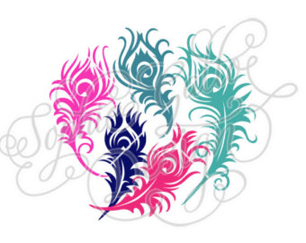 340x270 Feather Cutting File Etsy