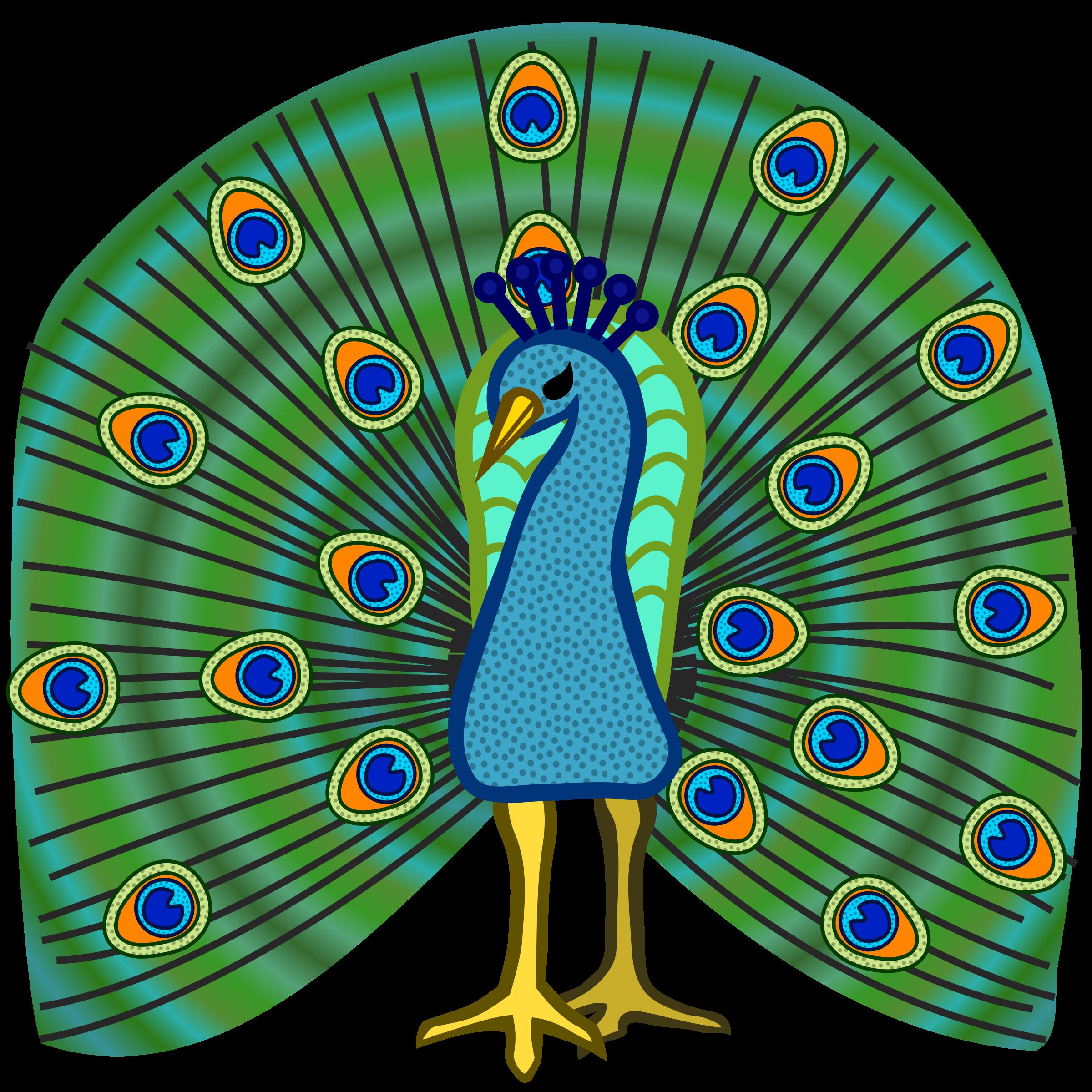 2400x2400 Peacock Clip Art