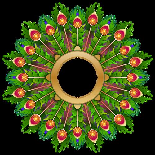 500x500 Vector Clip Art Of Peacock Feather Wreath Public Domain Vectors