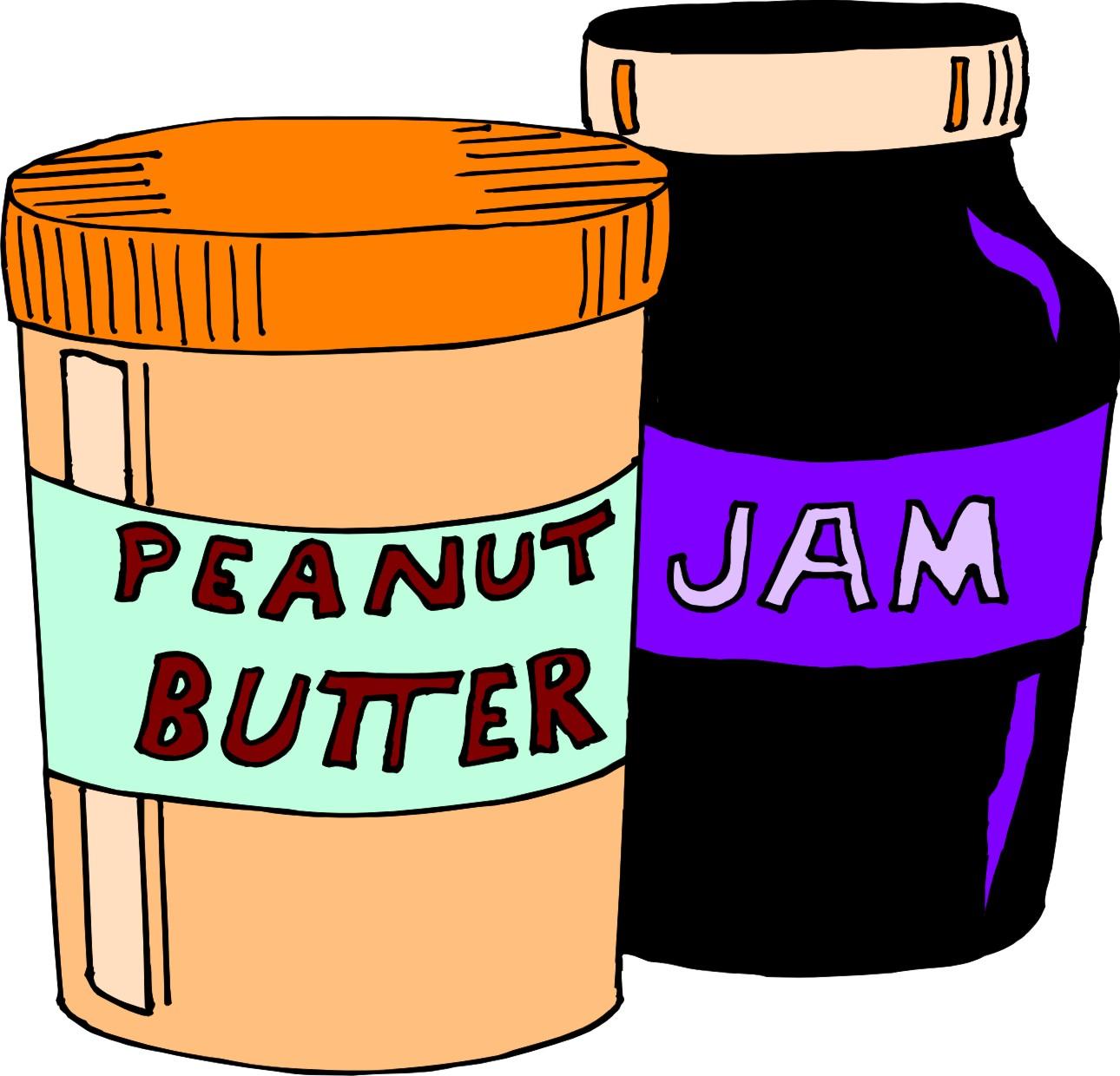 1290x1240 Peanut Butter Jelly Clip Art Free Image