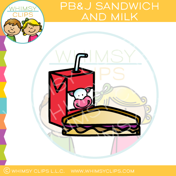 600x600 Peanut Butter Jelly Sandwich And Milk Clip Art , Images