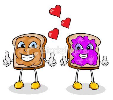 380x336 Peanut Butter And Jelly Friendship. Peanut Butter, Vector Art