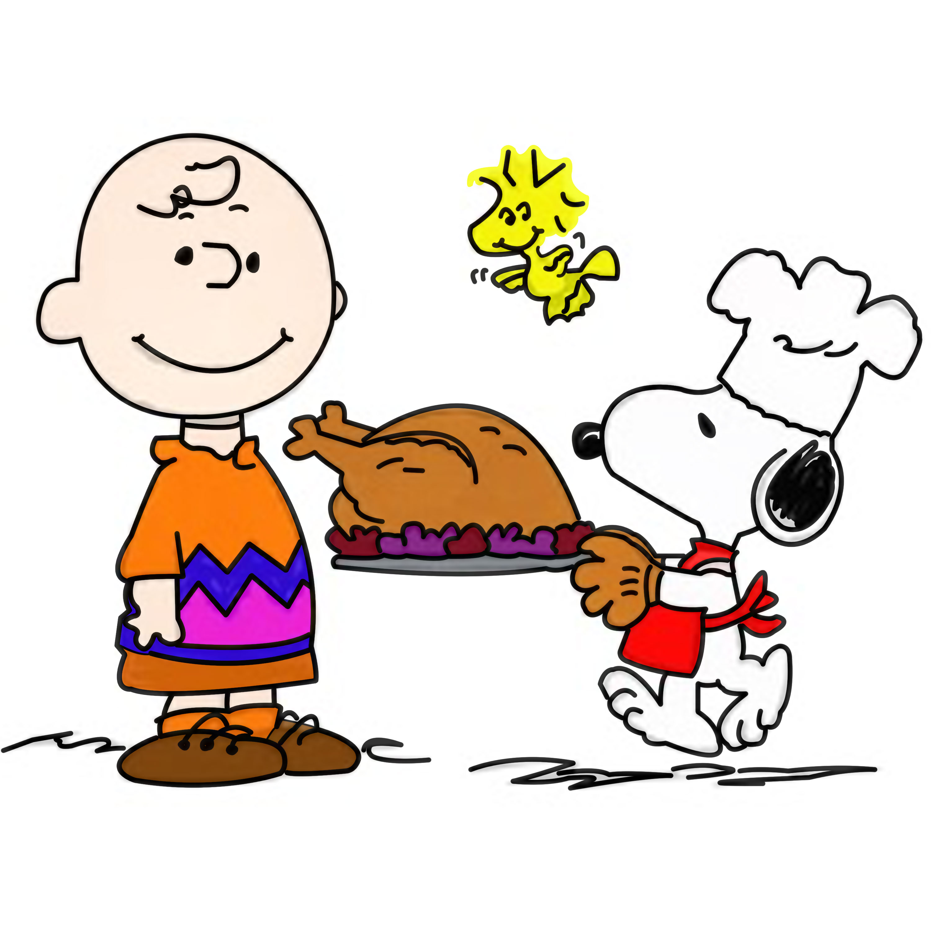 3000x3000 Snoopy Free Clip Art Peanuts Thanksgiving Clipart 1