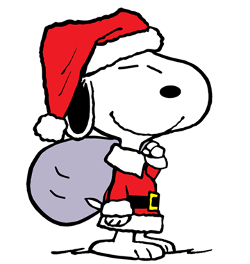 360x380 Snoopy As Santa's Helper (Smaller) Snoopy And Some Of His