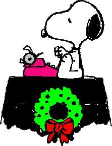 222x290 Snoopy Christmas Clipart