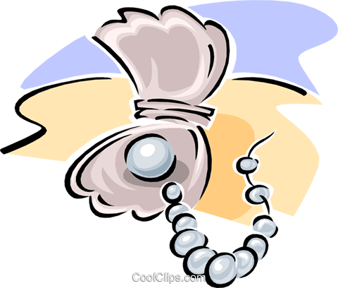 480x408 Pearl Necklace With Pearl Royalty Free Vector Clip Art