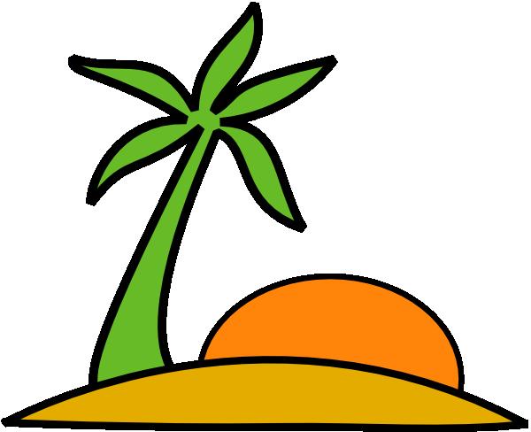 600x488 Island Clip Art