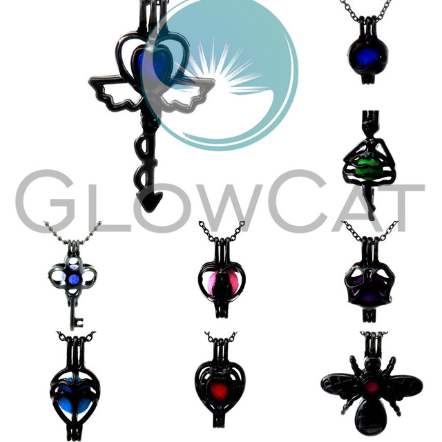 640x640 Glowcat Mixed Black Insect Key Leaves Yinyang Beads Cage