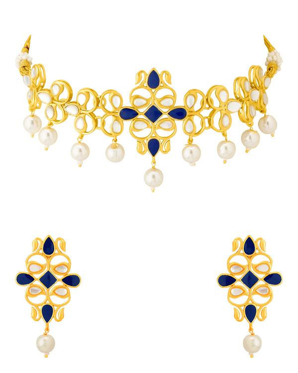 600x750 Buy Designer Necklace Sets Traditional Pearl Drop Necklace Set