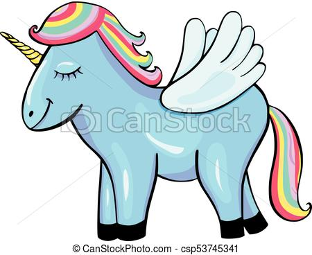 450x368 Pegasus Cartoon Icon Isolated On White Background Eps Vector