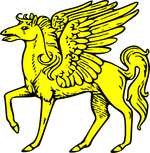 294x300 Winged Horse Clip Art