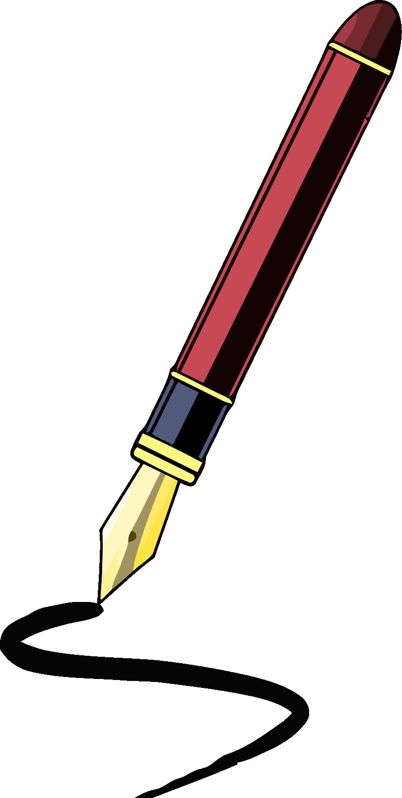 814x1616 Fancy Pen Clipart Png