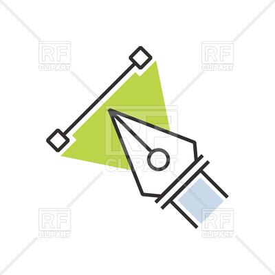 400x400 Green Pen Tool Icon Royalty Free Vector Clip Art Image