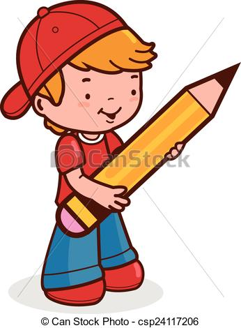 346x470 Little Boy Student Holding A Pen Vector Clip Art Royalty Free. 32