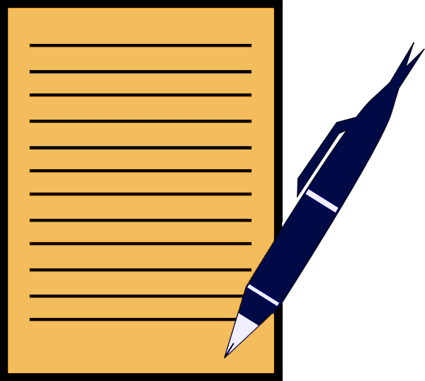 600x538 Pen And Paper Clipart Clipartlook