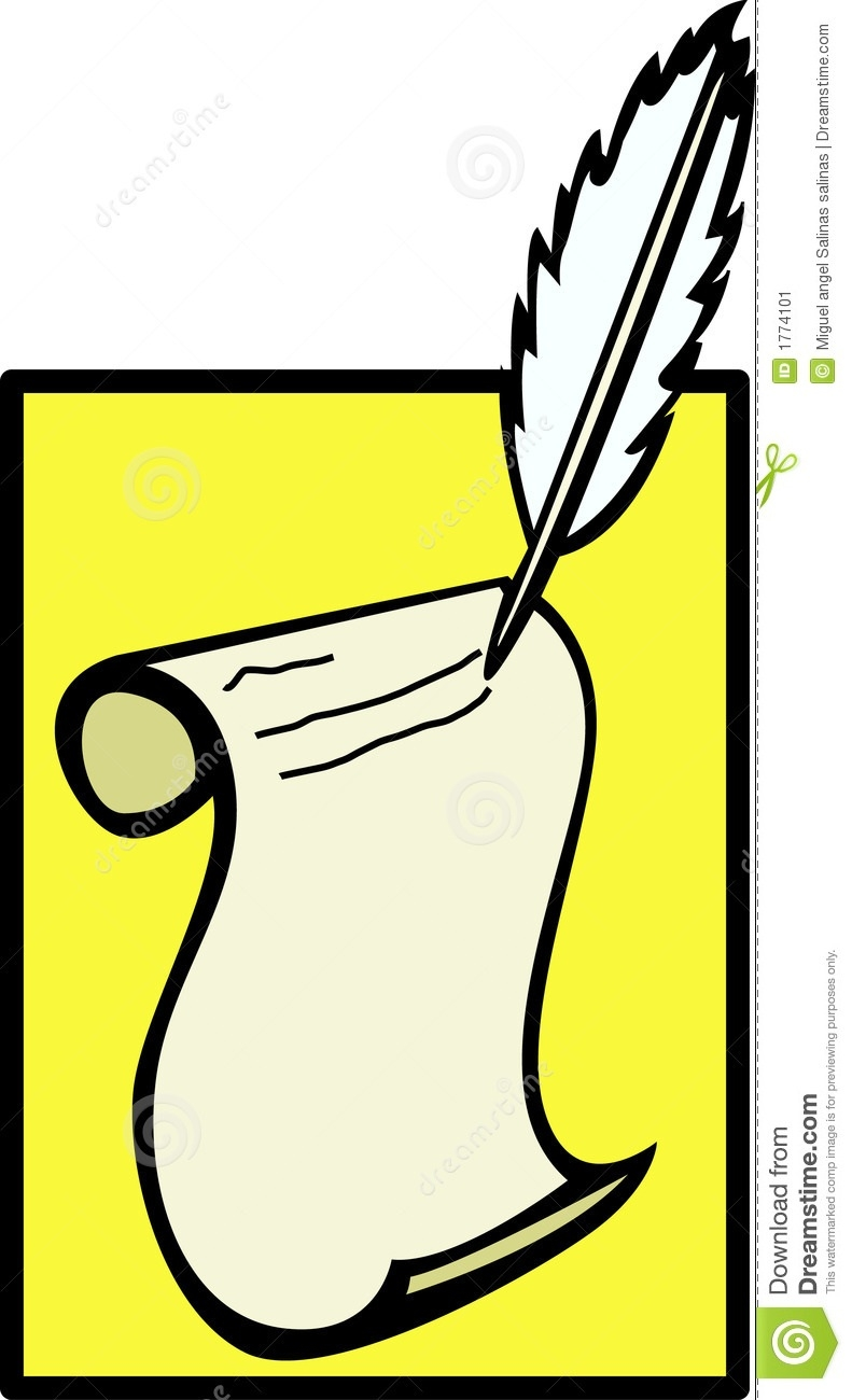 791x1300 Top Of Pen Writing On Paper Clipart