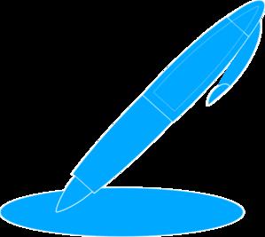 299x267 Blue Pen Clip Art