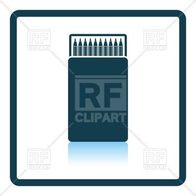 400x400 Pencil Box Icon Royalty Free Vector Clip Art Image
