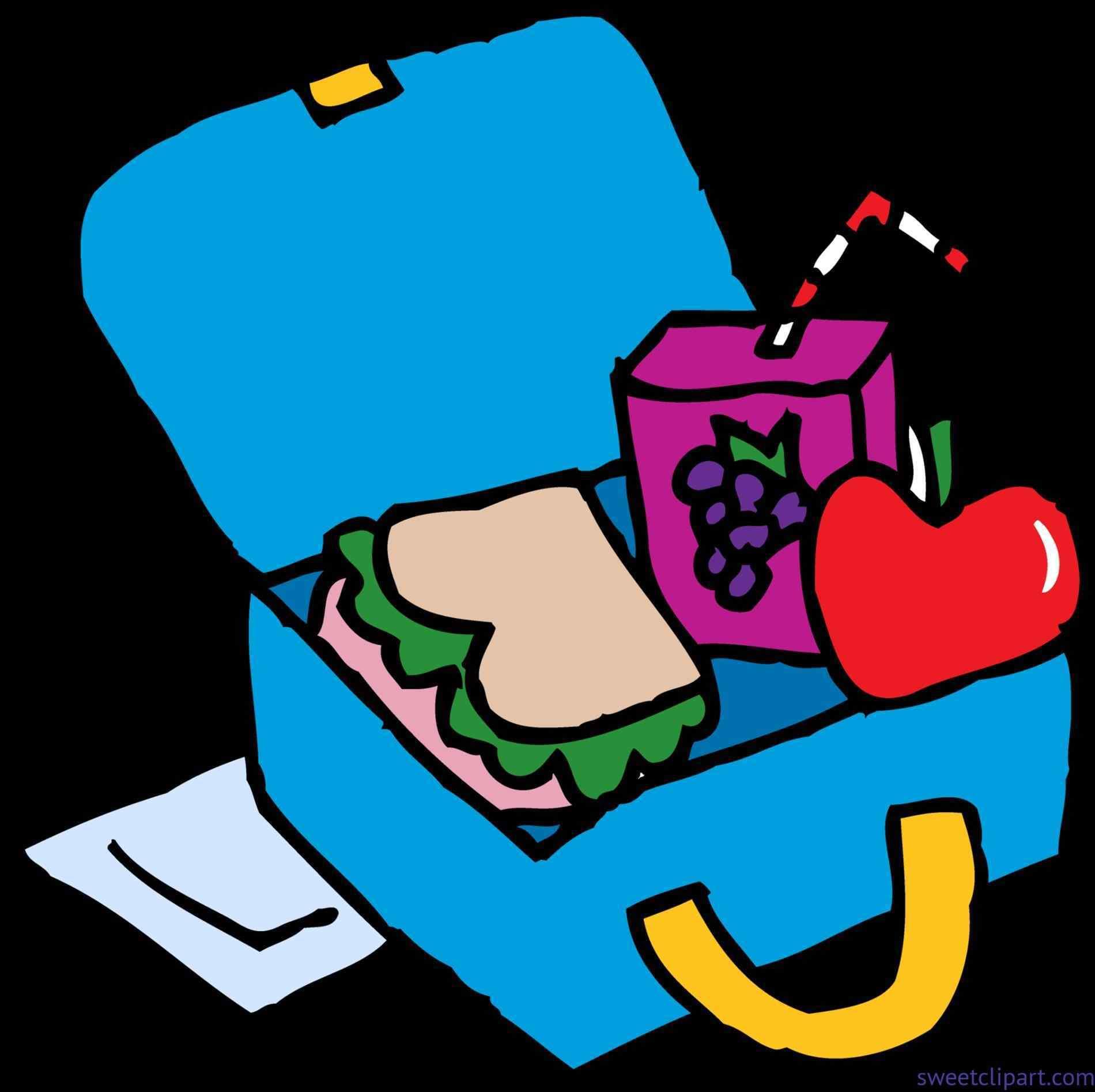 1900x1894 School School Lunch Food Clip Art Lunch Box Clip Art Sweet