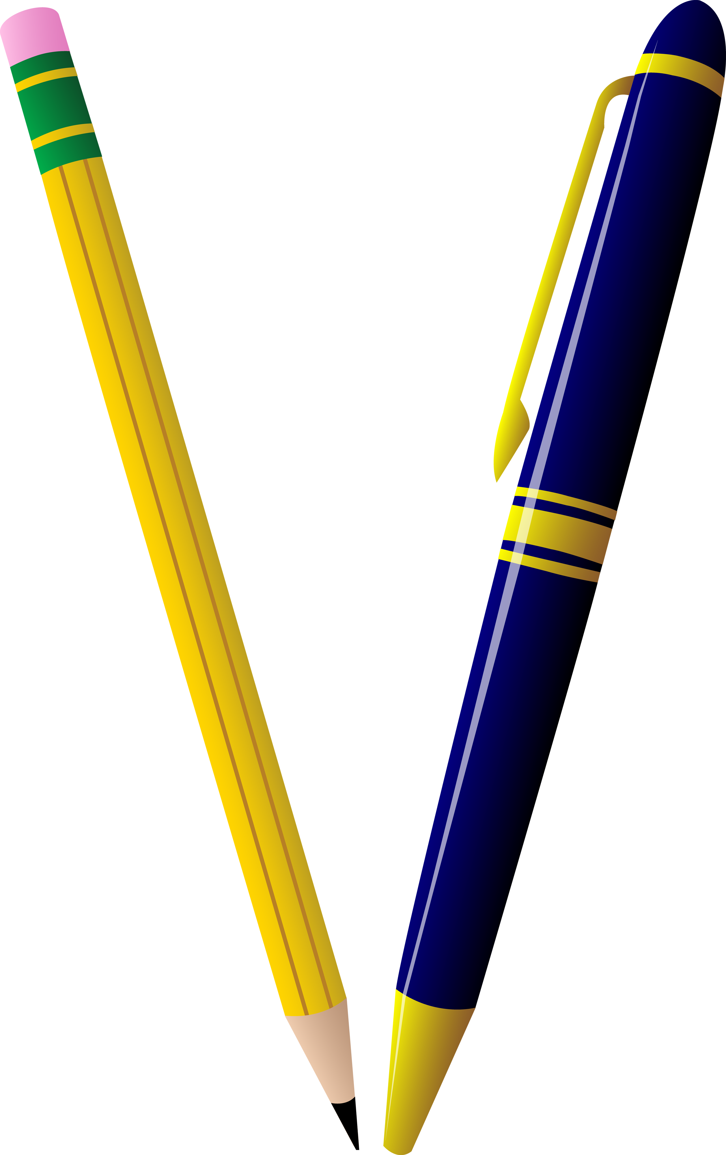 2515x4000 Extremely Creative Pen Clipart Pencil And Duo Free Clip Art