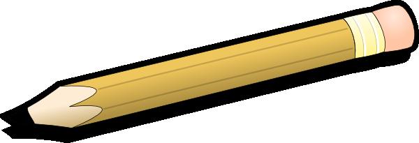 600x205 Pencil Clip Art Free Vector 4vector