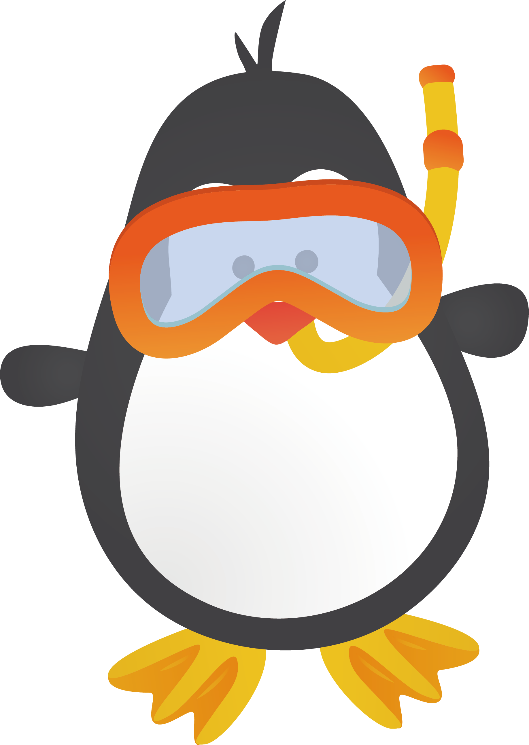 1836x2587 Penguin Cartoon Animation Clip Art
