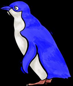 255x300 Blue Penguin Clip Art