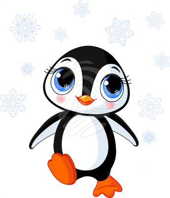344x400 Penguin Black And White Penguin Clip Art 9 4