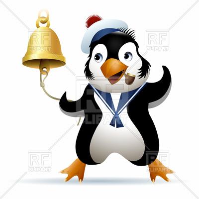 400x400 Penguin In Sailor Cap With Bell